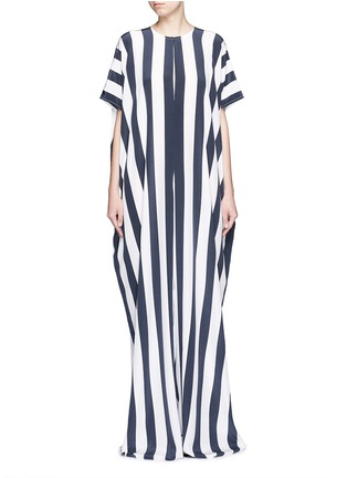 Main View - Click To Enlarge - Tome - Stripe crepe de Chine oversize jumpsuit