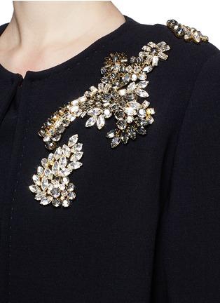 DOLCE & GABBANA-花卉仿水晶羊毛大衣