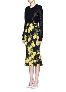 Dolce & GabbanaLace panel cashmere sweater