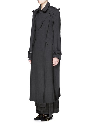 Front View - Click To Enlarge - Ellery - 'Christian' wool suiting trench coat