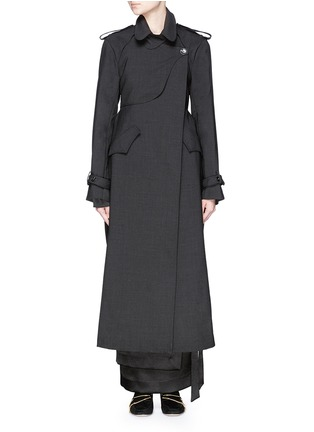 Main View - Click To Enlarge - Ellery - 'Christian' wool suiting trench coat