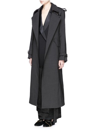 Figure View - Click To Enlarge - Ellery - 'Christian' wool suiting trench coat