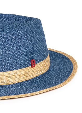 Detail View - Click To Enlarge - My Bob - 'Folco' paper trim straw Panama hat