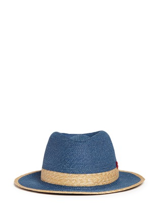 Main View - Click To Enlarge - My Bob - 'Folco' paper trim straw Panama hat