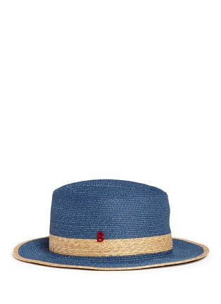 Figure View - Click To Enlarge - My Bob - 'Folco' paper trim straw Panama hat