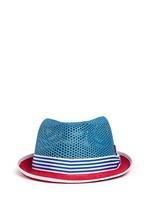 'Trilby Aero' colourblock straw Panama hat