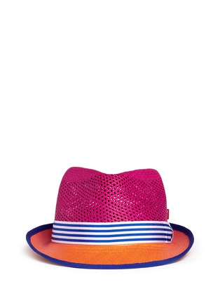 My Bob - 'Trilby Aero' colourblock straw Panama hat
