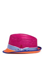 'Trilby Aero' colourblock straw Panama hat