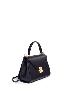 Mark Cross 'Hadley' small leather flap bag