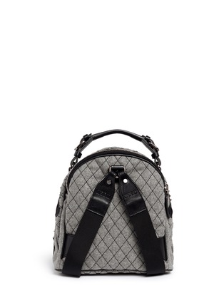 Back View - Click To Enlarge - MSGM - Spaceship appliqué quilted backpack