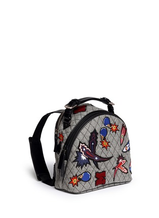 Figure View - Click To Enlarge - MSGM - Spaceship appliqué quilted backpack