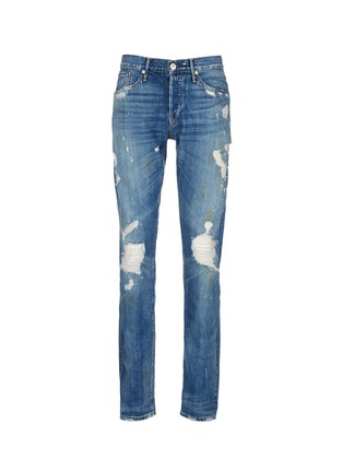 Main View - Click To Enlarge - 3x1 - 'M3' slim fit ripped selvedge jeans