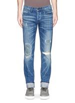 'M5' distressed slim fit jeans
