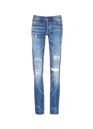 Main View - Click To Enlarge - 3x1 - 'M5' distressed slim fit jeans