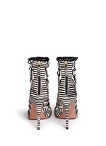 'Amazon' stripe python leather caged sandals
