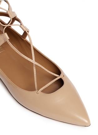 Detail View - Click To Enlarge - Aquazzura - 'Belgravia' caged leather flats