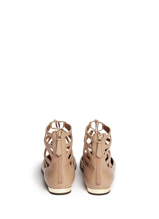 Back View - Click To Enlarge - Aquazzura - 'Belgravia' caged leather flats