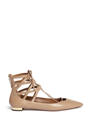 Main View - Click To Enlarge - Aquazzura - 'Belgravia' caged leather flats