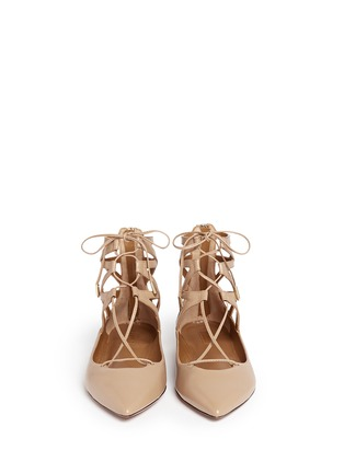 Figure View - Click To Enlarge - Aquazzura - 'Belgravia' caged leather flats