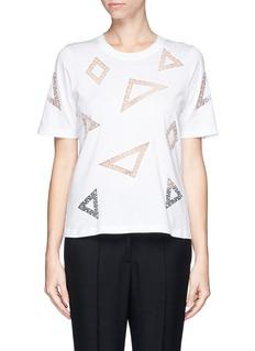 CHLOÉGeometric lace insert T-shirt