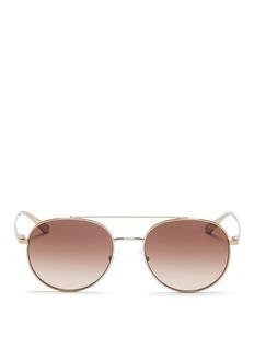 Michael Kors'Lon' double bridge metal sunglasses