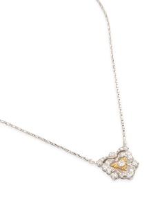 BUCCELLATI Diamond 18k gold cutout heart pendant necklace