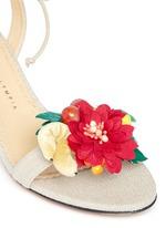 'Tropical Tara' fruit cluster canvas sandals