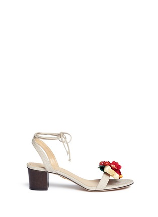 Main View - Click To Enlarge - Charlotte Olympia - 'Tropical Tara' fruit cluster canvas sandals