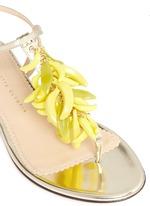Banana charm mirror leather sandals