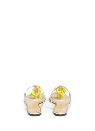 Back View - Click To Enlarge - Charlotte Olympia - Banana charm mirror leather sandals