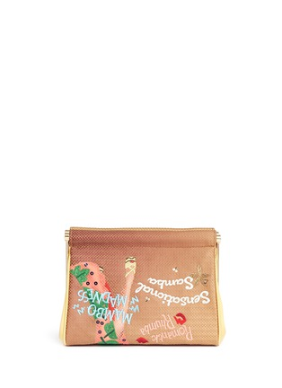 Detail View - Click To Enlarge - Charlotte Olympia - 'Cha Cha Cha Maggie' embroidered clutch