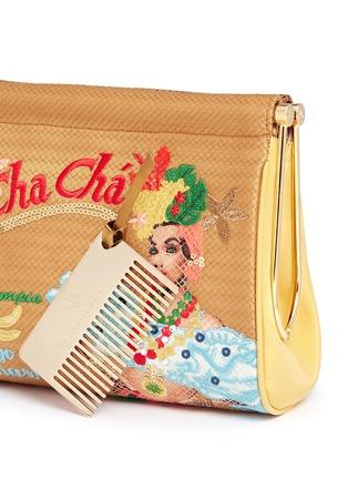 - Charlotte Olympia - 'Cha Cha Cha Maggie' embroidered clutch