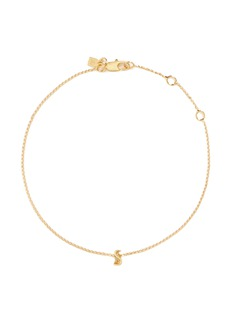 Xr Initiale S' diamond 16k gold plated bracelet