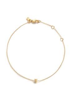 Xr'Initiale T' diamond 16k gold plated bracelet