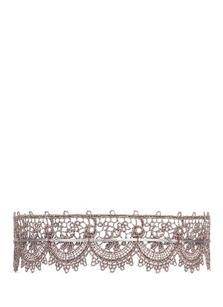 Main View - Click To Enlarge - Fallon - 'Andalusia' sterling scalloped lace choker