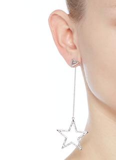 VennaGlass crystal pavé star drop pyramid earrings