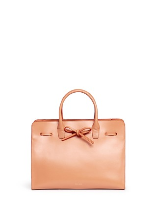 Detail View - Click To Enlarge - Mansur Gavriel - 'Large Sun' leather bow tote