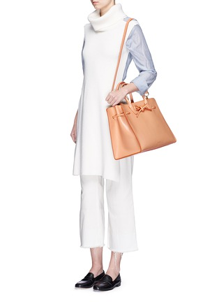Front View - Click To Enlarge - Mansur Gavriel - 'Large Sun' leather bow tote