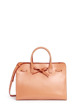Main View - Click To Enlarge - Mansur Gavriel - 'Large Sun' leather bow tote