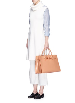 Figure View - Click To Enlarge - Mansur Gavriel - 'Large Sun' leather bow tote