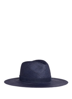Janessa Leone 'Chloe' leather band straw panama hat