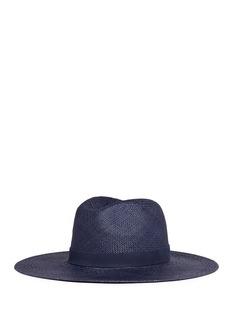 Janessa Leone'Chloe' leather band straw panama hat