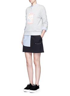 Ground-Zero'Selfie Queen' cotton sweatshirt