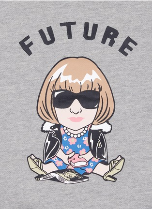 Detail View - Click To Enlarge - Ground Zero - 'Future Anna' cropped cotton kids sweatshirt
