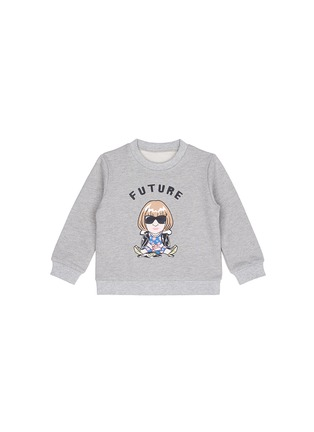Main View - Click To Enlarge - Ground Zero - 'Future Anna' cropped cotton kids sweatshirt