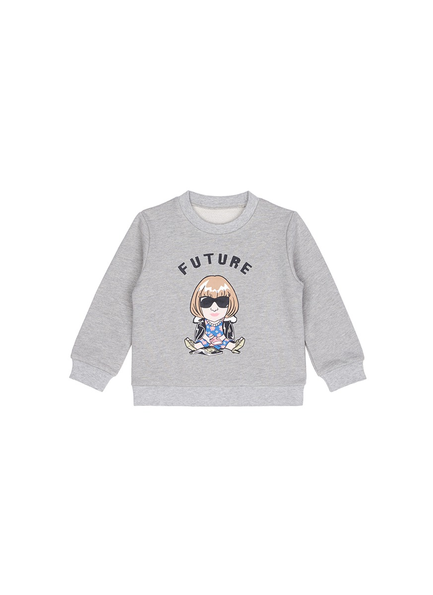 Future Anna cropped cotton kids sweatshirt by Ground Zero