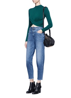 TopshopTwist front French terry cropped T-shirt