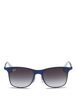 Main View - Click To Enlarge - Ray-Ban - 'Wayfarer Flat Metal' sunglasses