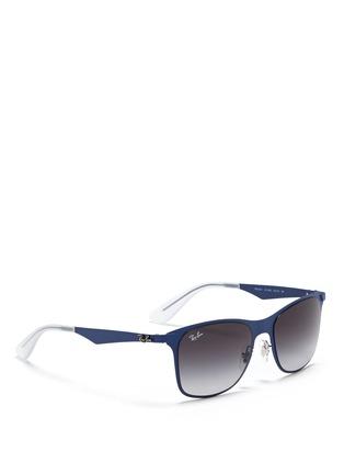 Figure View - Click To Enlarge - Ray-Ban - 'Wayfarer Flat Metal' sunglasses
