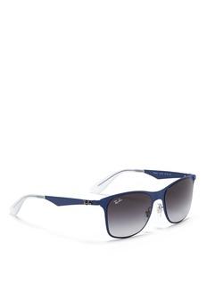 RAY-BAN'Wayfarer' flat metal sunglasses